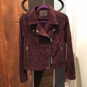 New BLANKNYC  Burgundy Moto Suede Jacket